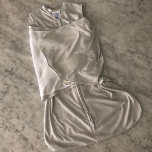 Halo wearable blanket with swaddle wrap